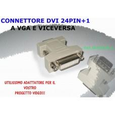 Adattatore VGA(Mas.) - DVI-A DVI-I 24+5(Fem.) Da MONITOR a DVI-A DVI-I
