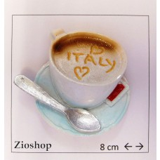 Souvenir  From Italy Calamita Frigo Fridge Magnets  CAPPUCCINO LOVE ITALY