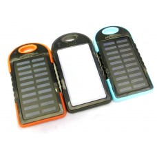 Solar Charger  4000mAh Portable Solar Power Bank /Shockproof/Dustproof Dual USB Battery Bank for cell phone iPhone Samsung Android phones Windows phones GoPro Camera GPS and More
