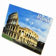 SOUVENIR FROM ITALY ROMA COLOSSEO ISCHIA MARE PIASTRELLA 13.5*17 5