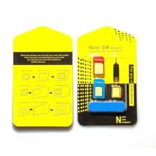 Kit 5in1 Adattatore Scheda Nano Micro SIM Universale per Smartphone e Tablet  Convertitore Card + Estrattore + Limetta in Metallo