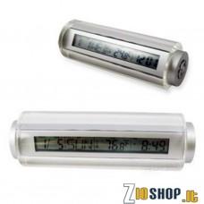 Splendida Sveglia in Plexiglass da comodino con calendario e termometro.