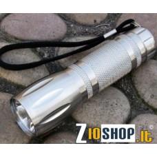 Torcia Luce Led 1W UltraBright Alluminio Impermeabile