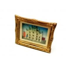 Calamita Magnete Souvenir from Italy in Resina Milano DUOMO CORNICE-Calamita